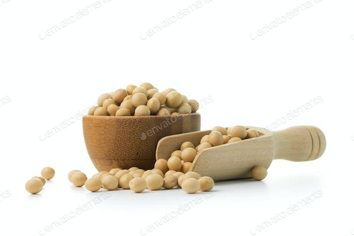 Soya beans close up