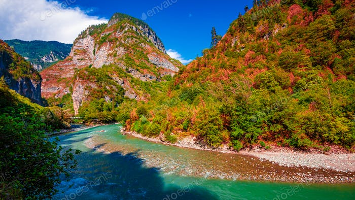 Mountain river stream valley scenery landscape