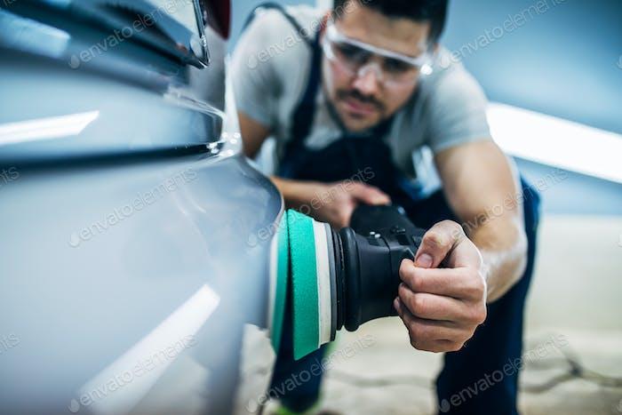 Doing a car polish