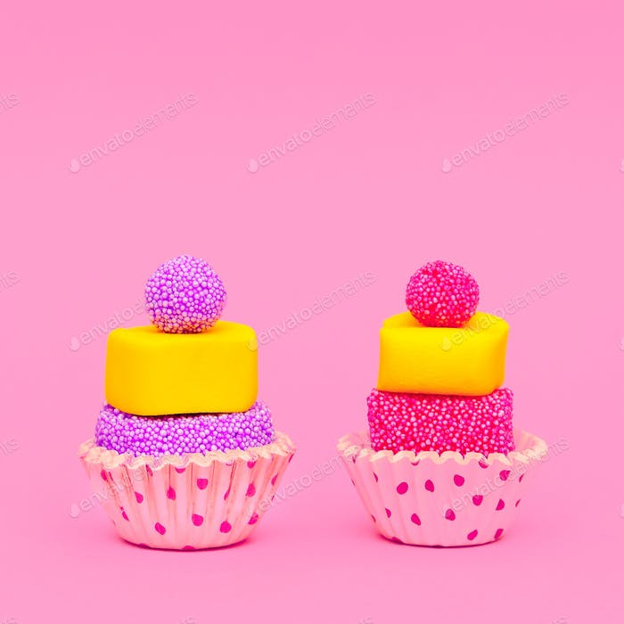 Lovely Cakes. Sweet mood. Minimal Candy Art