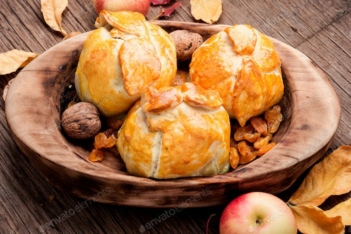 Baked autumn apples