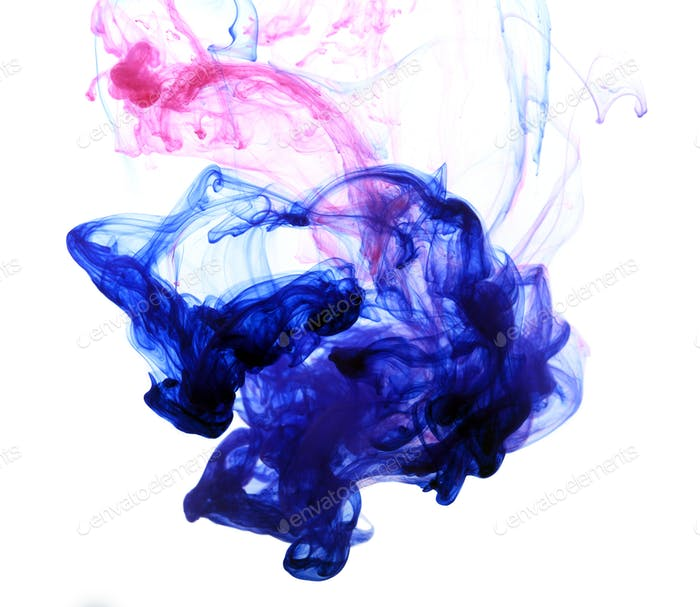 Abstract composition of mixed ink