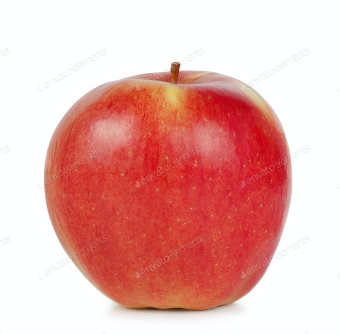 Roter saftiger reifer Apfel