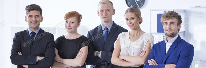 Team of young entrepreneurs
