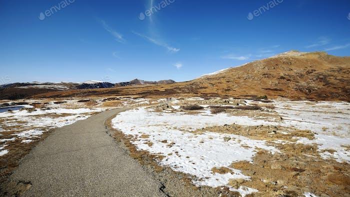 Independence Pass Bergwanderweg, Colorado, USA.