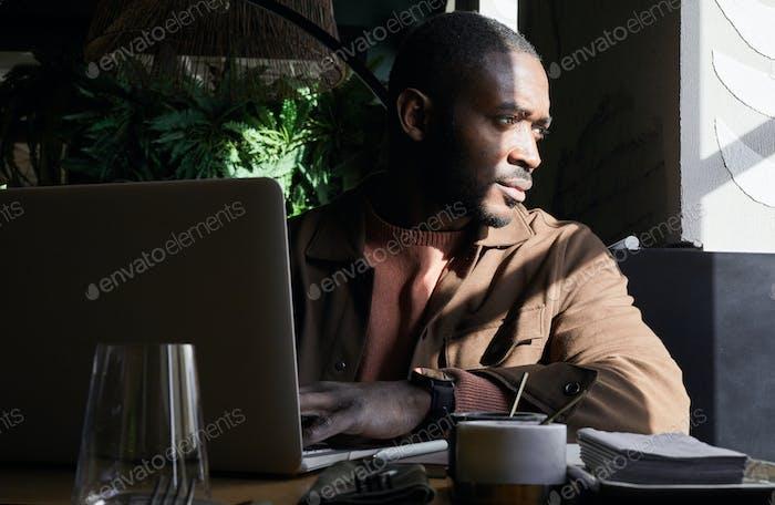 Successful African Businessman in Sunlight