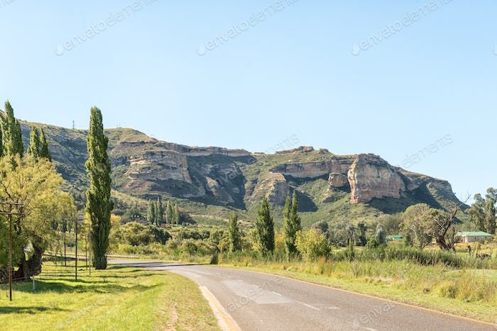 Landscape North of Clarens with Titanic Rock to the right