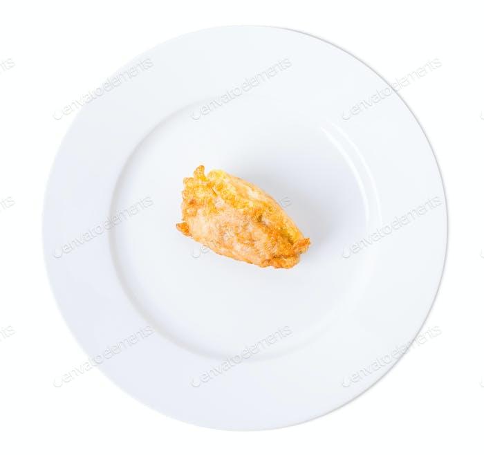 Delicious battered chicken fillet.