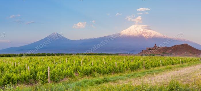 Khor Virap and Mount Ararat