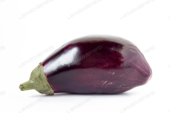 Aubergine over white