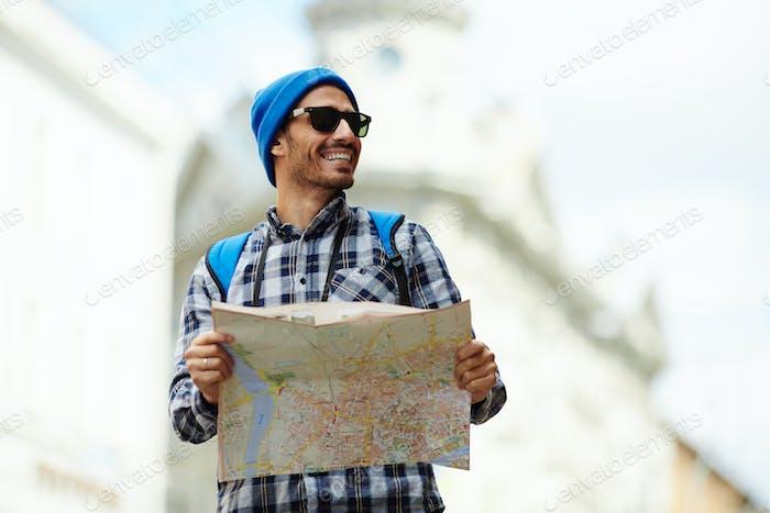 Reise mit Karte