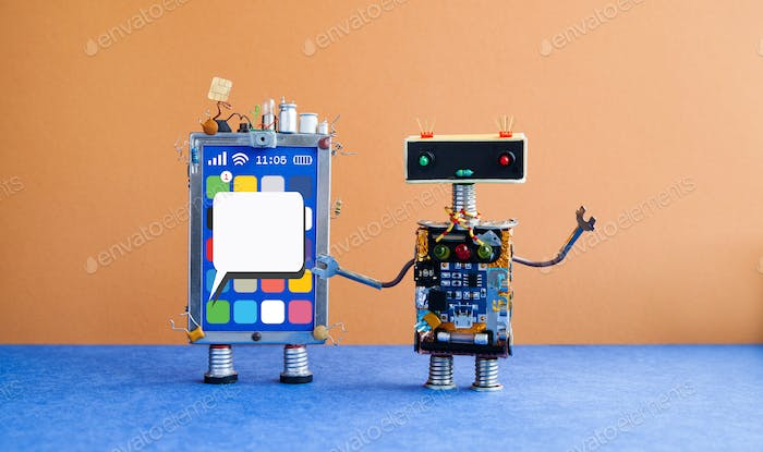 Mobile smartphone and robot