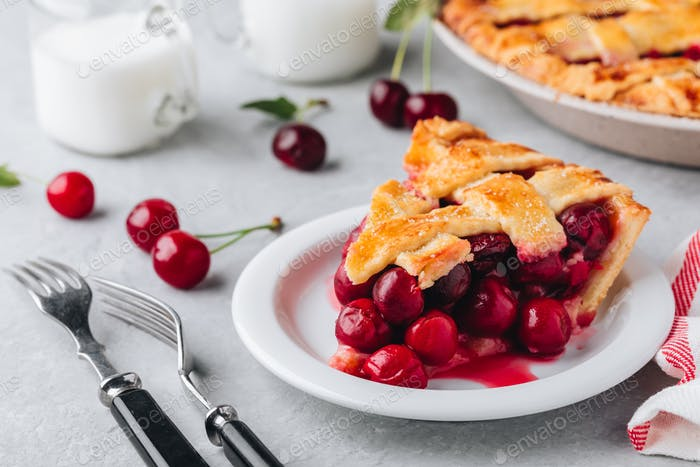 Homemade Cherry Pie with a Flaky Crust