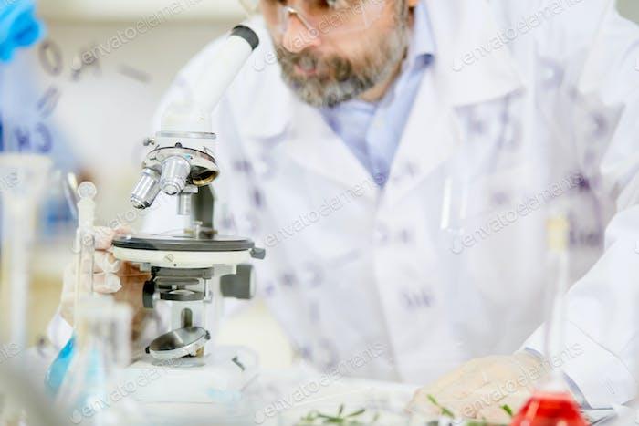Работа ученого