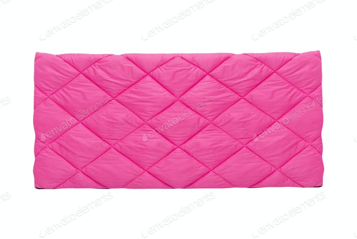 Pink blanket isolated on whute