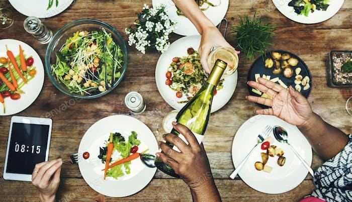Comida Restaurante Party Foodie Luncheon Concepto