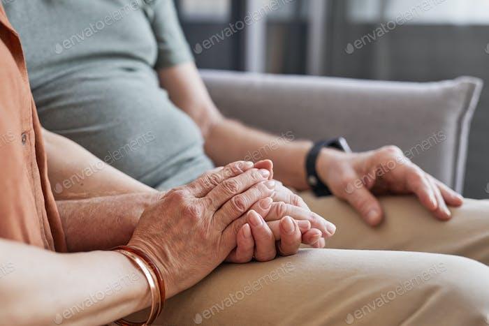 Caring Senior Couple Closeup