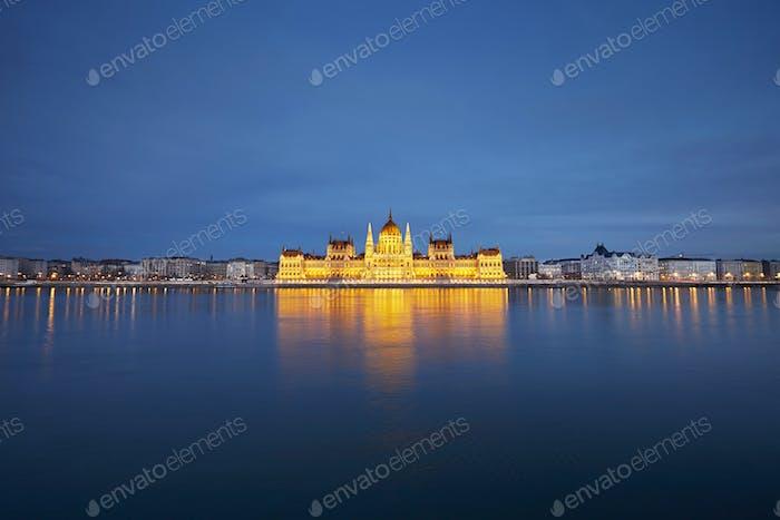 Amazing twilight in Budapest