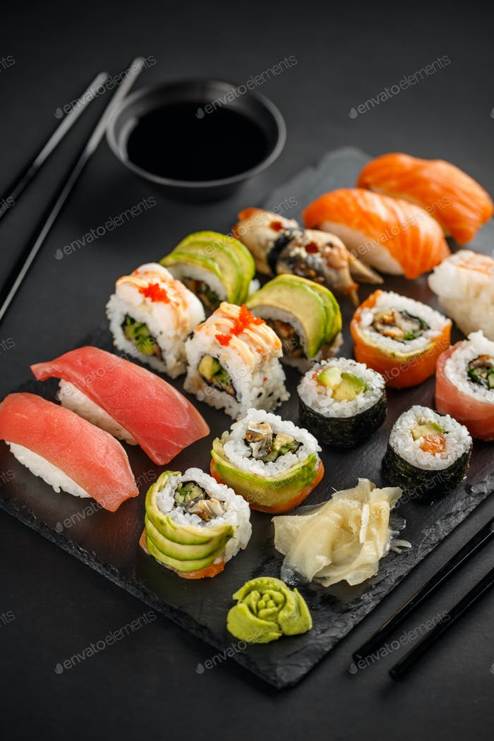 Sushi and Sashimi rolls