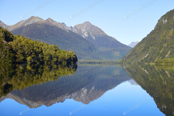 View Of Milford Sound In New Zealand's South Island