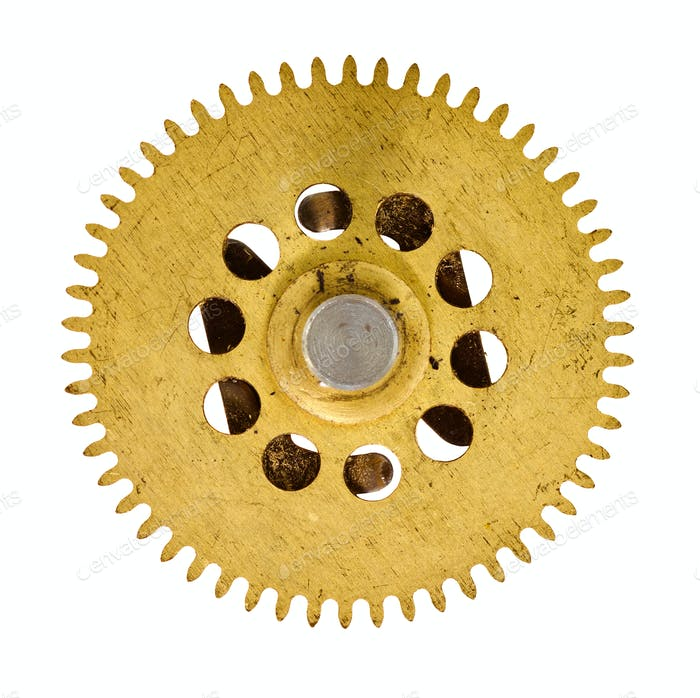 cogwheel on white background