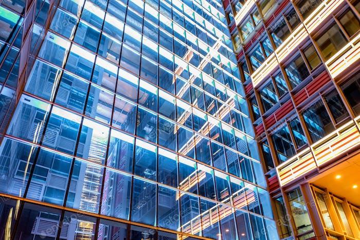 futuristic urban buildings