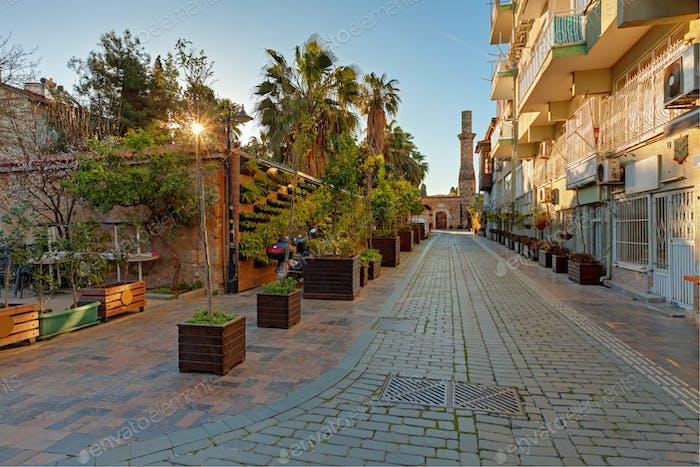 Ancient street of the Antalya city.