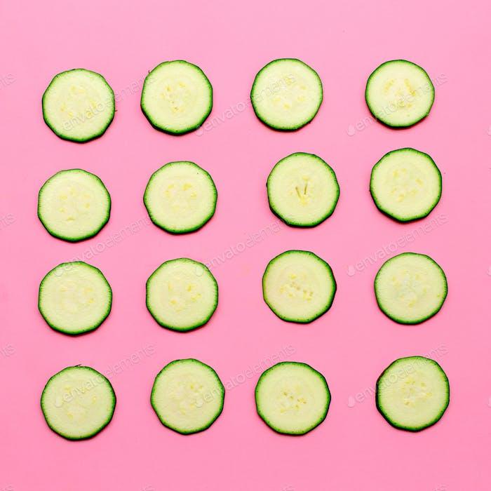 Zucchini backgroundVegan minimal art design