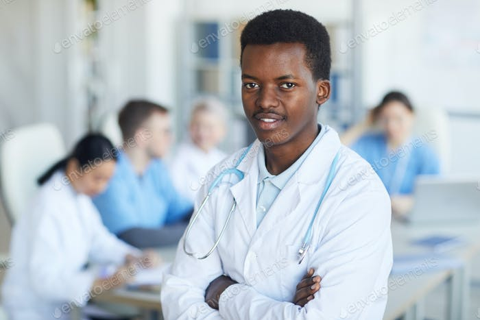 Young African-American Doctor Smiling
