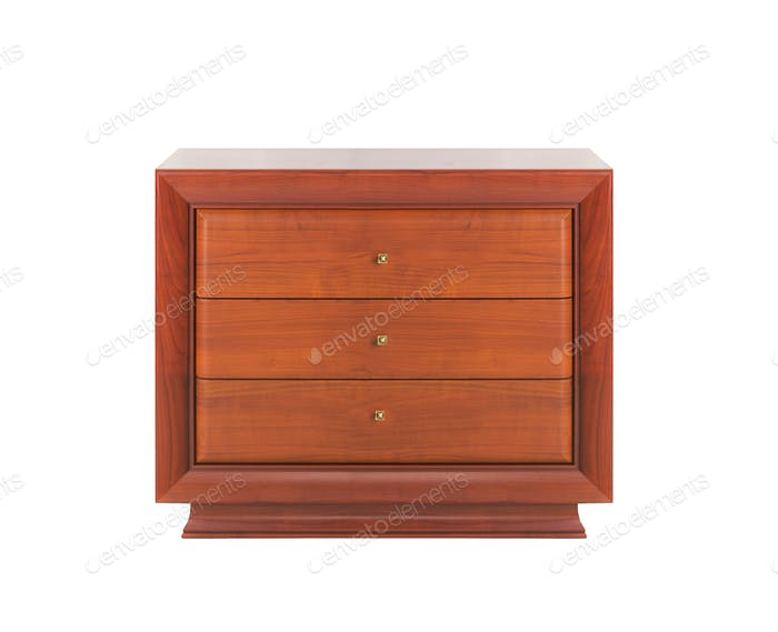 Wooden dresser isolated