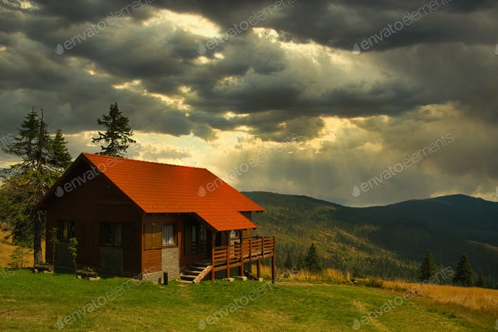 Cabin in Carpathian mountains