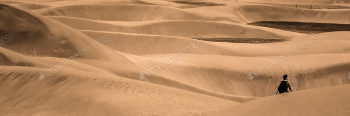 Lost among the sand dunes