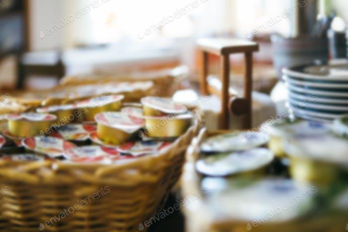 Portionen Marmelade im Hotel