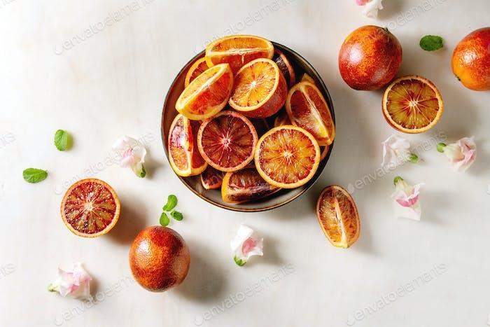 Sicilian bloody oranges