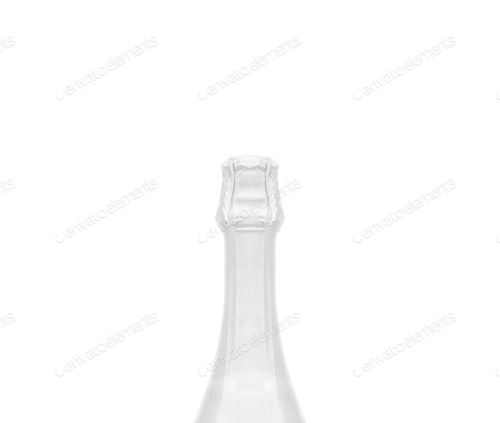 Isolated champagne bottle