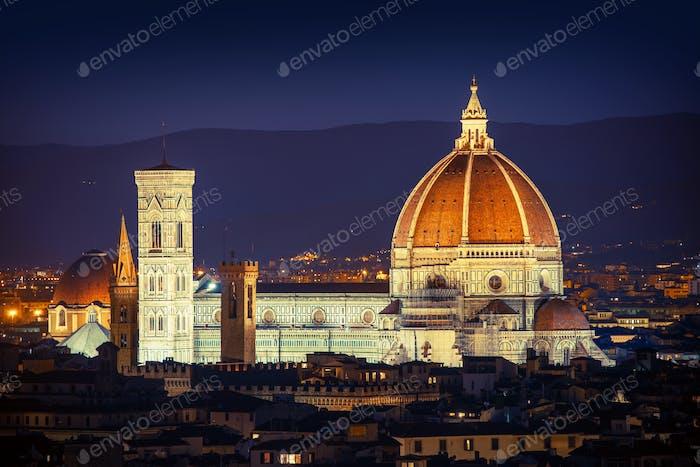 Florence Night Cityscape