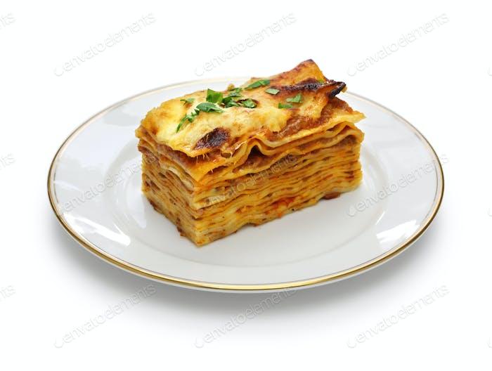lasagna alla bolognese, italian cuisine