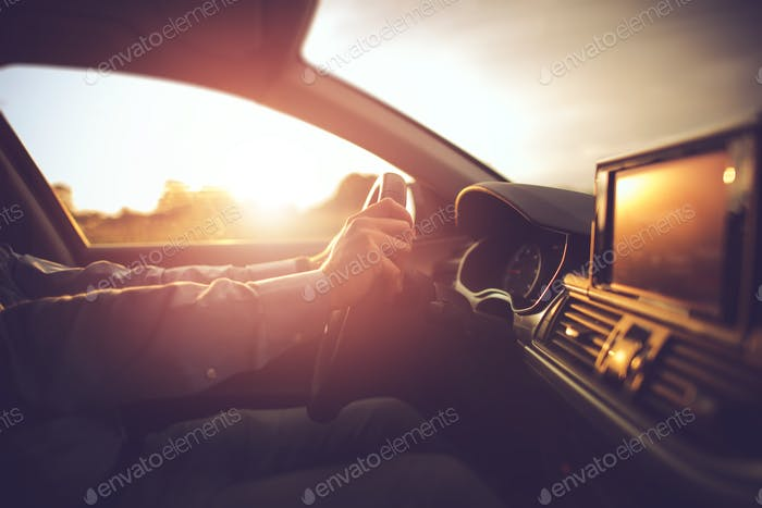 Car Driving in the Sun