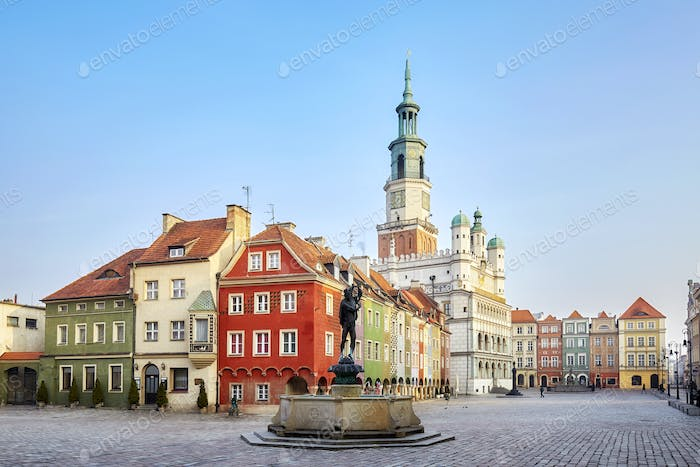 Market Square in the Poznan Old Town, Poland