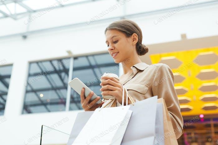 Shopaholic doing shopping