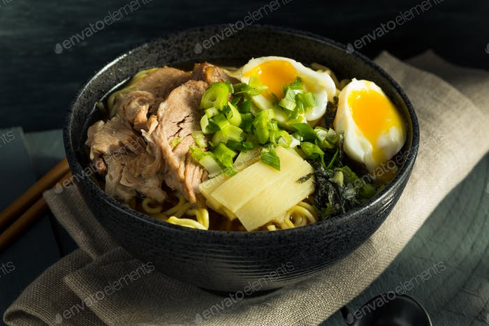Homemade Japanese Pork Ramen Noodles