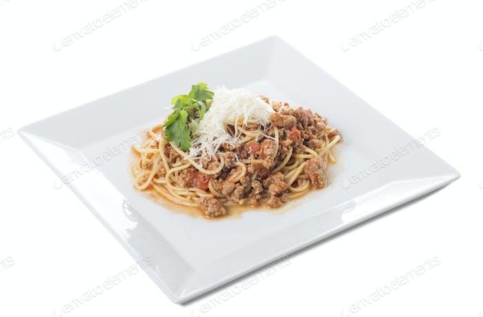 Classic italian bolognese pasta.