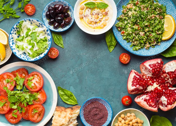 Middle eastern meze