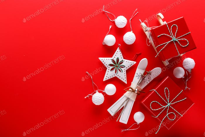 Christmas decorations for Christmas holiday.