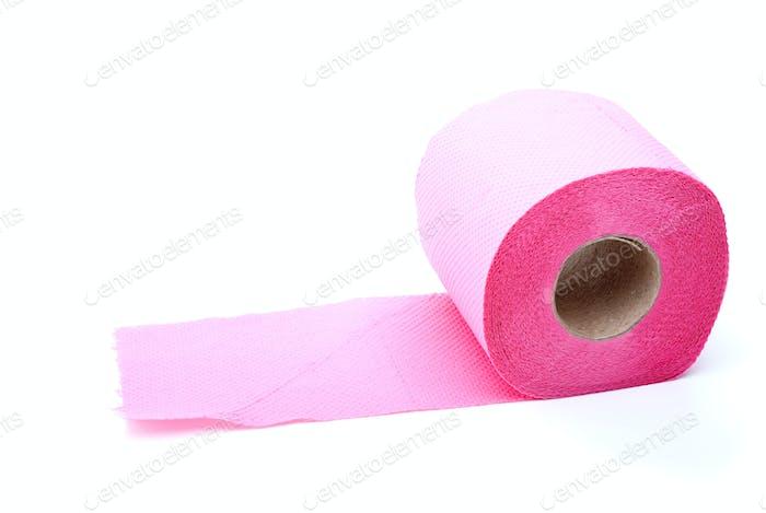 Pink toilet paper
