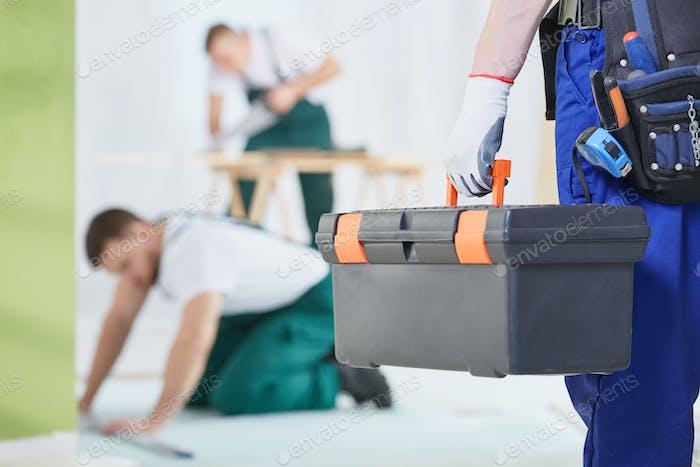 Werkzeugkiste für Arbeiter