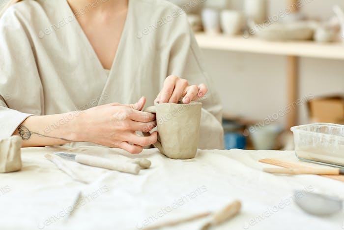 Selbstgemachte Tasse
