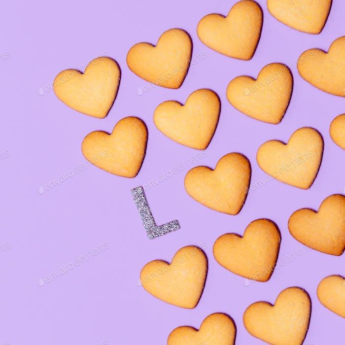 Love Cookies Minimal art design Candy colors