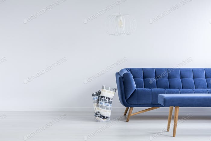 Ascetic living room with sofa
