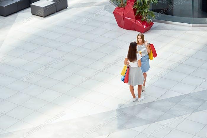 Pretty Girls in Shopping Center